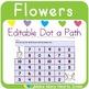 Editable Dot a Path: Flowers