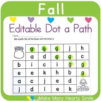 Editable Dot a Path: Leaves