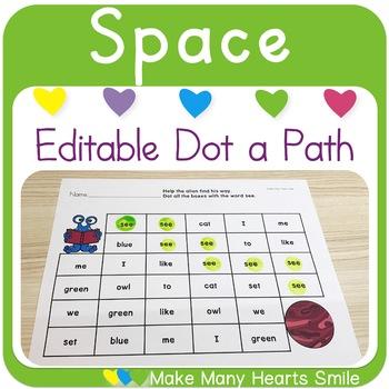 Editable Dot a Path: Space