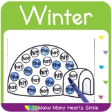 Editable Dot a Picture: Winter