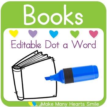 Editable Dot a Word: Books
