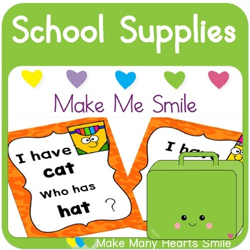 Editable Make Me Smile Kit: School Supplies