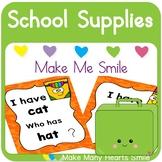 Editable Make Me Smile Kit: School Supplies