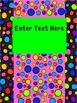 Editable Dots Sterlite 3 Drawer Labels, 3 Drawer Bin Labels, and Binder Cover
