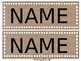 Editable Dots and Burlap Name Tags