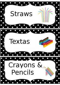 Editable Dotted Labels Art, Building Blocks and Drama/Dance Labels