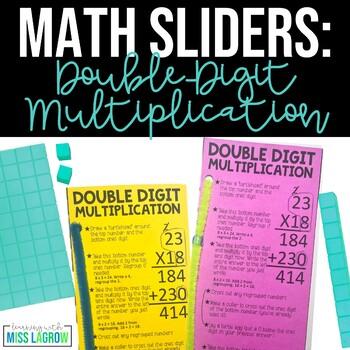 Editable Double Digit Multiplication Steps Sliders Aid Manipulative