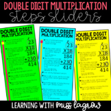 Editable Double Digit Multiplication Steps Sliders Aid Manipulative