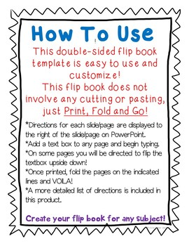 Editable Double Sided Flip Book Activity Book for ANY TOPIC! Print, Fold, Go!