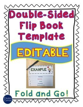 Editable Double Sided Flip Book Activity Book for ANY TOPIC! Print ...