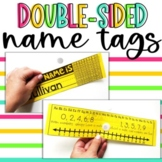 EDITABLE Name Tags for Desks | Name Plates | DOUBLE-SIDED with over 20 options