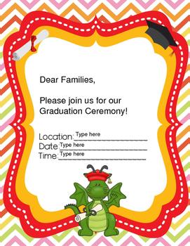 Editable Dragon Ceremony Invitations
