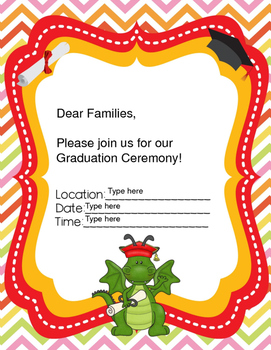 Editable Dragon Ceremony Invitations