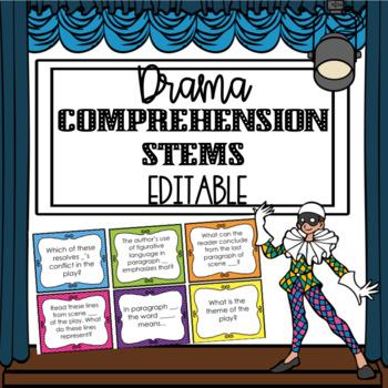 Editable Drama Question Stems