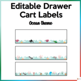 Editable Drawer Cart Labels Ocean Theme