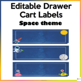 Editable Drawer Cart Labels Space Theme