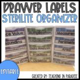 Sterilite Drawer Labels (Editable)