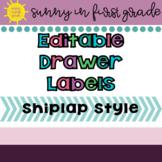 Editable Drawer Labels Shiplap Style