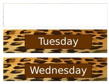 Editable Drawer Labels in Cheetah Print