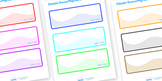 Editable Drawer and Peg Name Labels