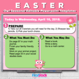 Editable EASTER Owl Themed Morning Work PowerPoint Templates