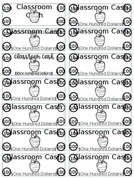 Editable EASY Classroom Cash- 5 Themes: Cactus, Pineapple, Sports...