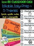 Editable EASY Classroom Cash- 5 Themes: Cactus, Pineapple,