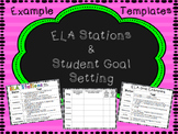 Editable ELA Stations and Student Goal Setting