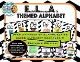 Editable ELA Themed Alphabet