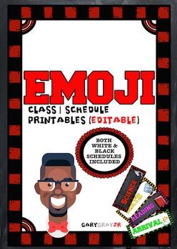 Editable EMOJI Schedule Cards