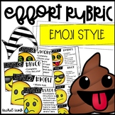 Editable EMOJI Work and Effort Rubric