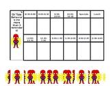 Editable ESE Daily Behavior Chart - Spiderman