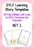 Editable EYLF Learning Story Templates - SET 1