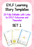 Editable EYLF Learning Story Templates - SET 1