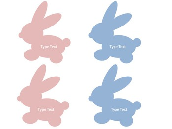 Editable Easter Bunny Rabbit Labels