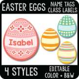 Editable Easter Egg Name Tags, Easter Classroom Decor, Digital & Printable Label