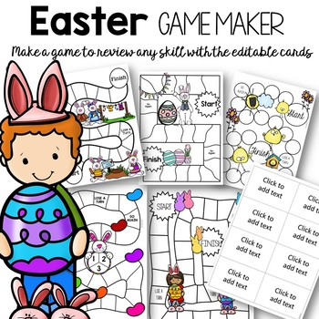 Editable Easter Games