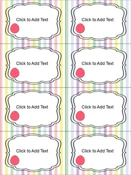 Editable Easter Labels (4 sizes and 6 different designs)