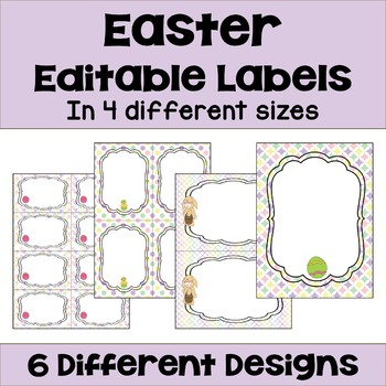 Editable Easter Labels