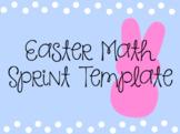 Editable Easter Math Sprint Template