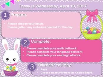 Editable Easter Morning Boards
