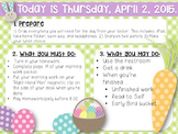 Editable Easter Morning Work/Message Template