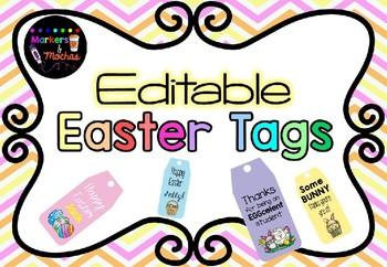 Editable Easter Tags