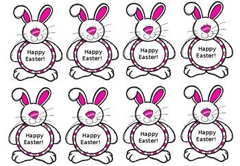Editable Easter Tags, Thank You Printable Labels