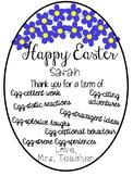 Editable Easter gift tag