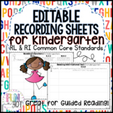 Editable Easy Recording Sheets for R.L.K.1- R.L.K.10