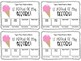 Editable Effort and Behavior Coupon Cards