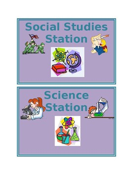 Editable Elementary Classroom Center Signs