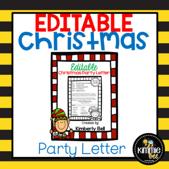 Editable Elf Class Christmas/Holiday Party Letter with ...