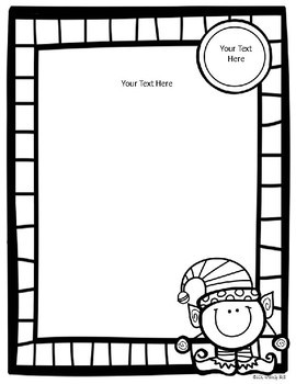 editable elf class christmasholiday party letter with blank template